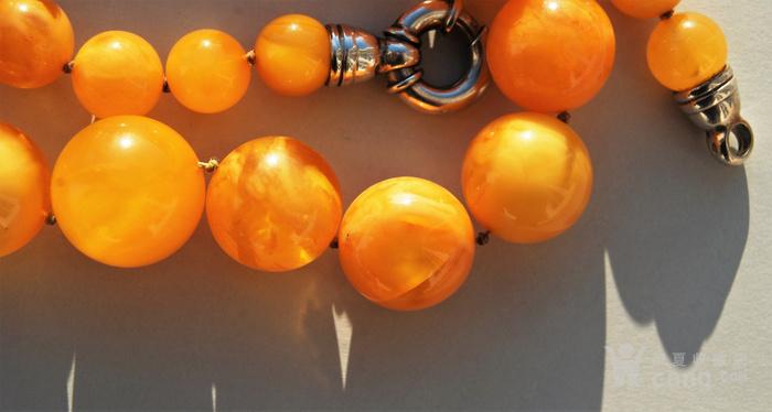 天然 蜜蜡圆珠项链 b150图8