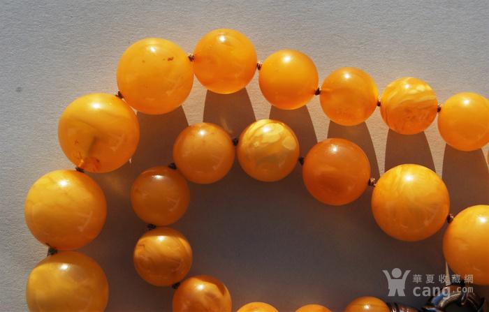 天然 蜜蜡圆珠项链 b150图10