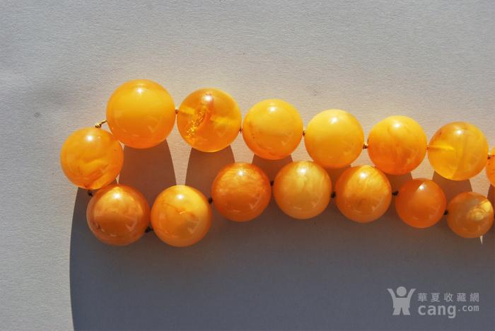 天然 蜜蜡圆珠项链 b150图11