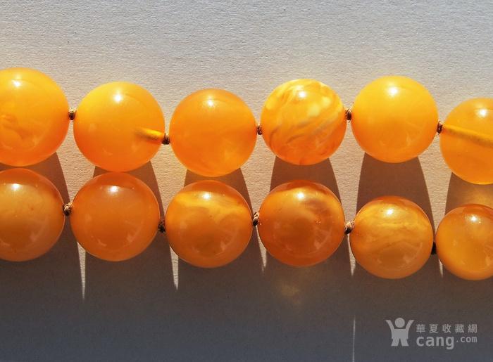 天然 蜜蜡圆珠项链 b150图12