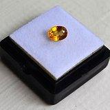 纯黄色蓝宝石 斯里兰卡纯天然椭圆型1.20克拉蓝宝石