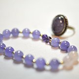 【套装】14K金珠紫水晶手链戒指套装【国内现货】