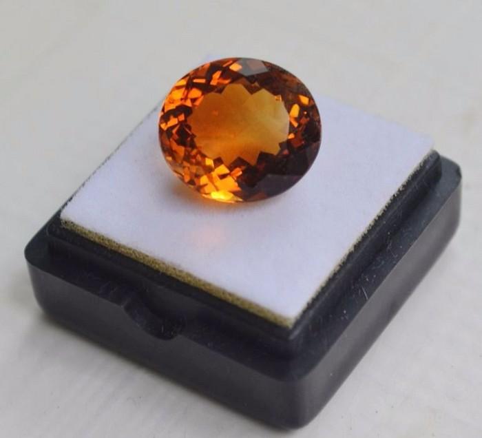 黄水晶 9.36克拉纯天然无加热巴西黄水晶 旺财石图1