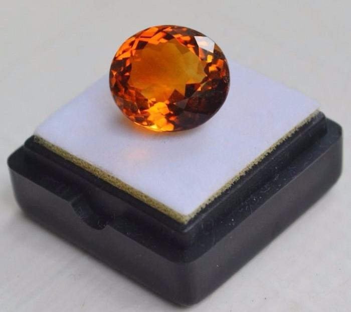 黄水晶 9.36克拉纯天然无加热巴西黄水晶 旺财石图2