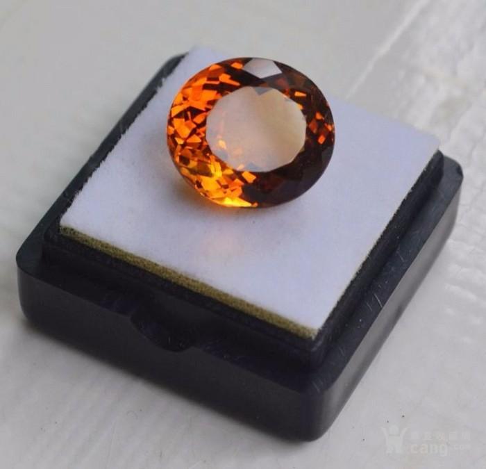 黄水晶 9.36克拉纯天然无加热巴西黄水晶 旺财石图3