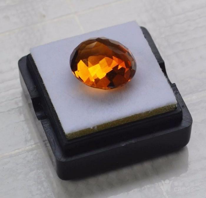 黄水晶 9.36克拉纯天然无加热巴西黄水晶 旺财石图4