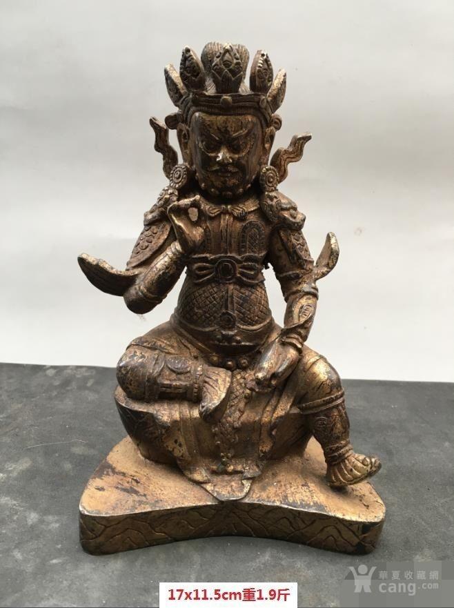 铜鎏金佛造像-图1