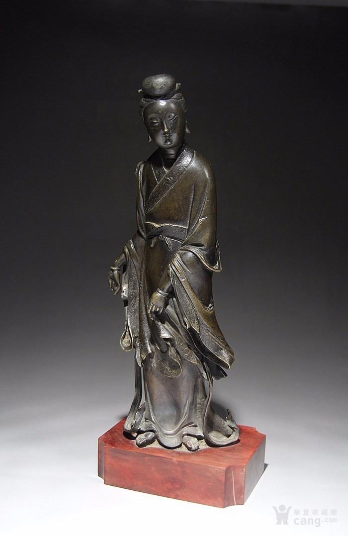 清早期铜观世音菩萨像-图1
