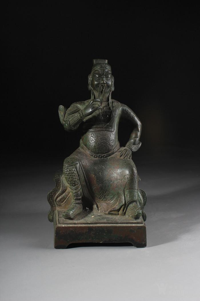 宋代铜关公-图1