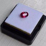 红宝石 缅甸抹谷产纯天然椭圆型1.04克拉近鸽血红红宝石