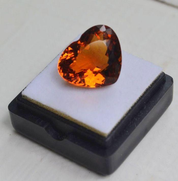 黄水晶 11.06克拉纯天然无加热巴西黄水晶 旺财石图1