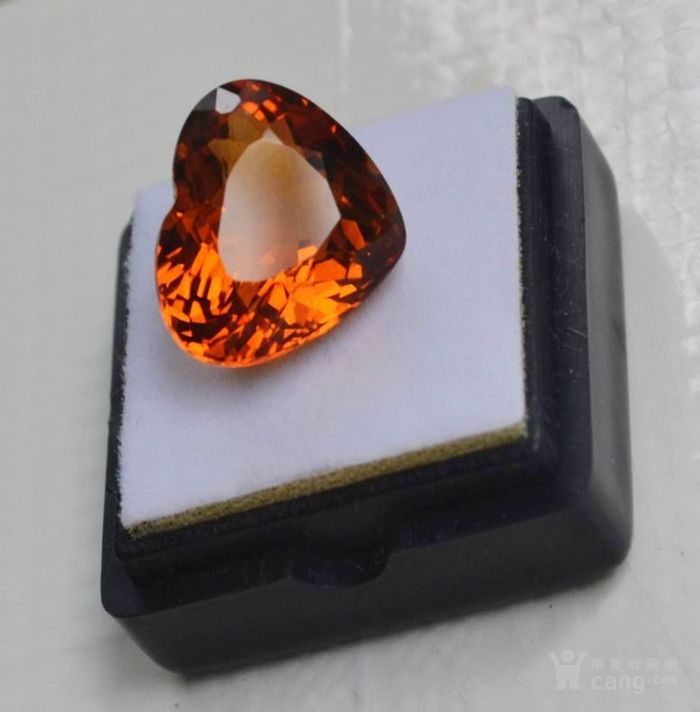 黄水晶 11.06克拉纯天然无加热巴西黄水晶 旺财石图3