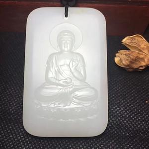 """【新品】和田籽料""""阿弥陀佛""""牌 羊脂白 ."""