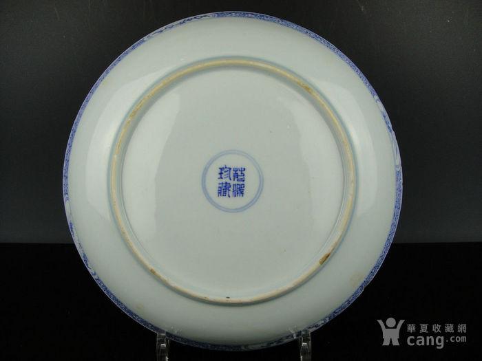 康熙青花西厢记人物盘精品(24cm)图7