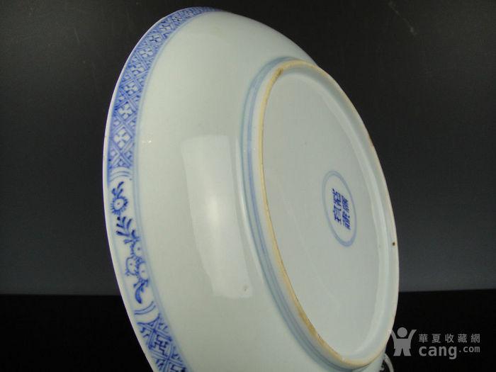 康熙青花西厢记人物盘精品(24cm)图9