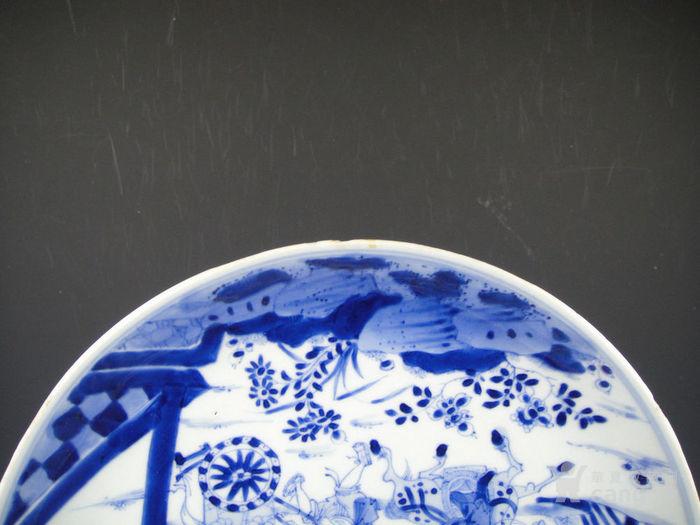 康熙青花西厢记人物盘精品(24cm)图11