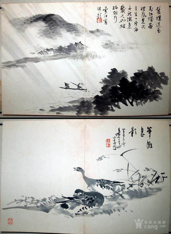 """近代--民国初年""""鸳鸯蝴蝶派""""重要人物-何海鸣等书画册图5"""