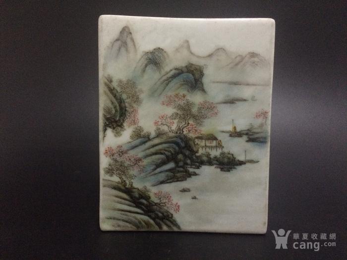 汪小亭江南秋色山水方盒图3