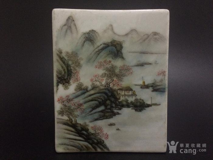 汪小亭江南秋色山水方盒图4
