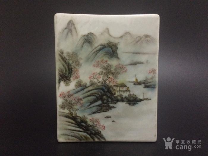 汪小亭江南秋色山水方盒图5
