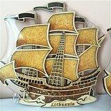 国内现货 波罗的海纯天然一帆风顺琥珀蜜蜡摆件