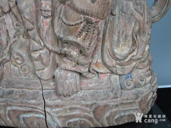 明代木雕普贤菩萨坐狮佛像一尊图11