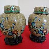 46901020  民国铜胎掐丝珐琅盖罐一对 CHINA款