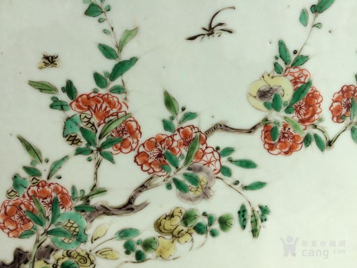 康熙五彩抓周花卉双面瓷板图7
