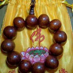 印度老酸枝红檀佛珠