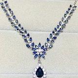 天然蓝宝石套链