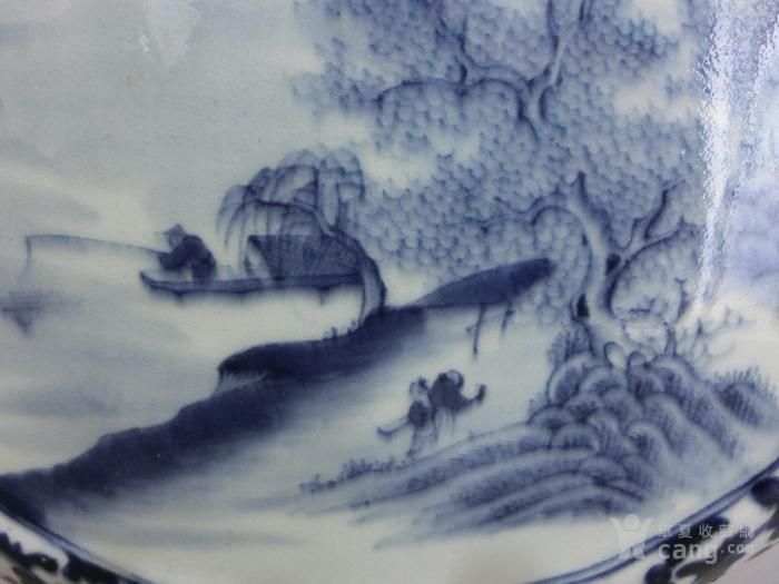 清珍珠青花花卉纹开光粉彩人物故事梅瓶高32厘米图8