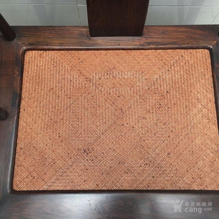【正宗黄花梨】清代   明式海南黄花梨藤面圈椅图8