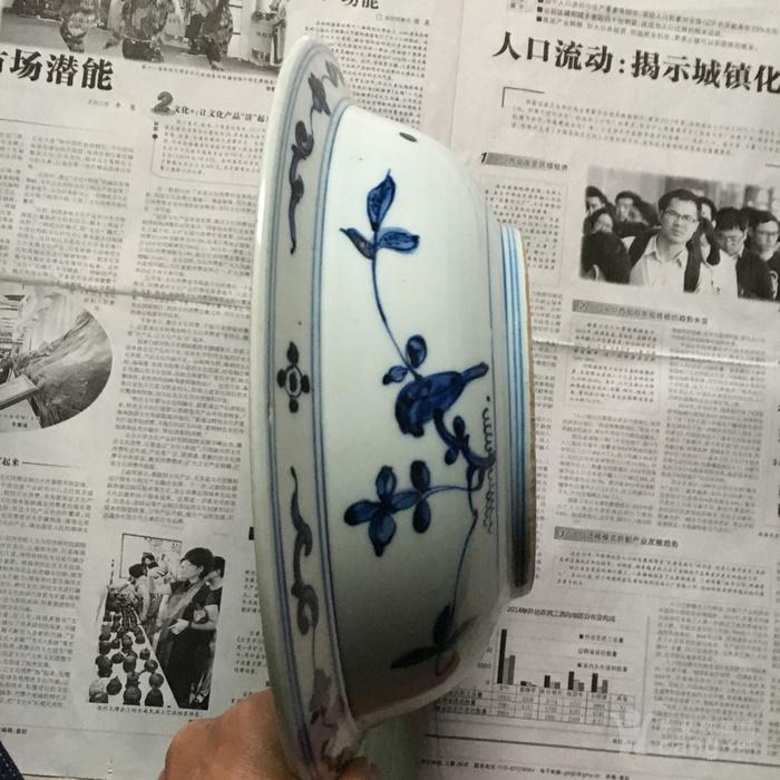 明代青花盆图2