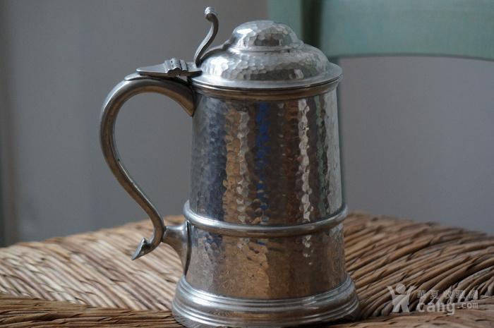 稀见英国古董锡制啤酒杯brisks百年品牌图1