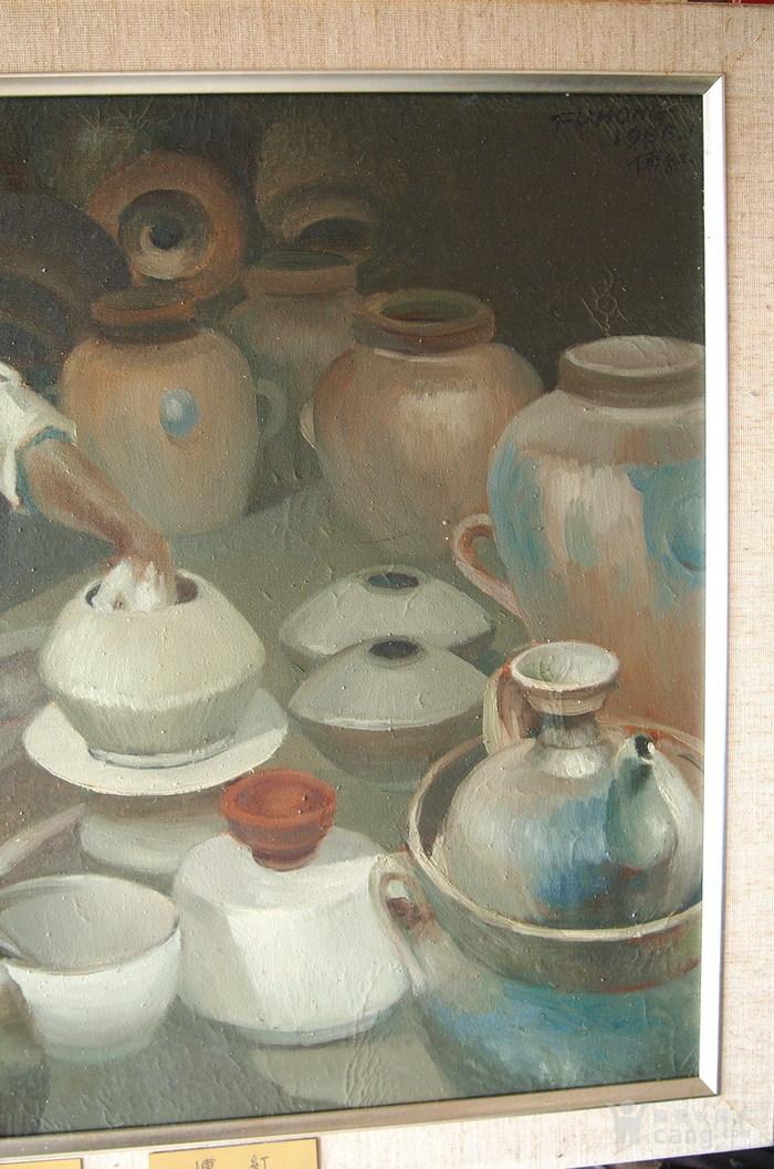 当代-油画家-傅红-《制陶的藏民》图3