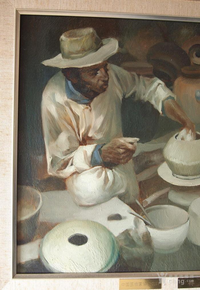 当代-油画家-傅红-《制陶的藏民》图4