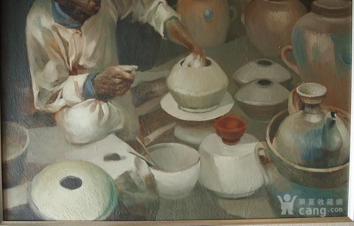 当代-油画家-傅红-《制陶的藏民》图5