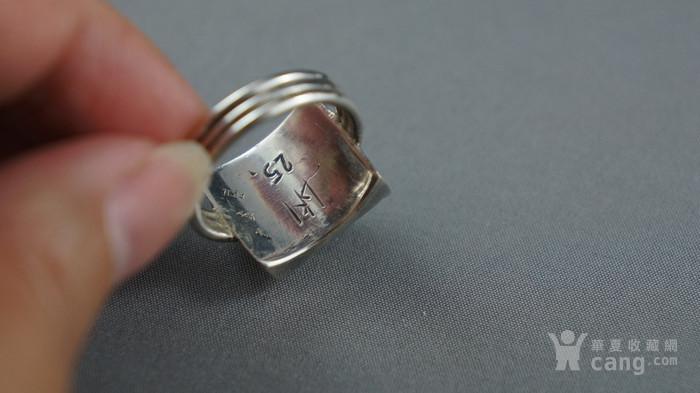 22k金950银镶嵌天然紫水晶戒指图2