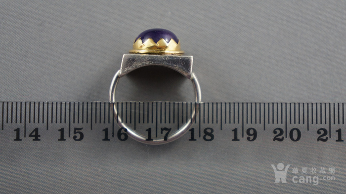 22k金950银镶嵌天然紫水晶戒指图3