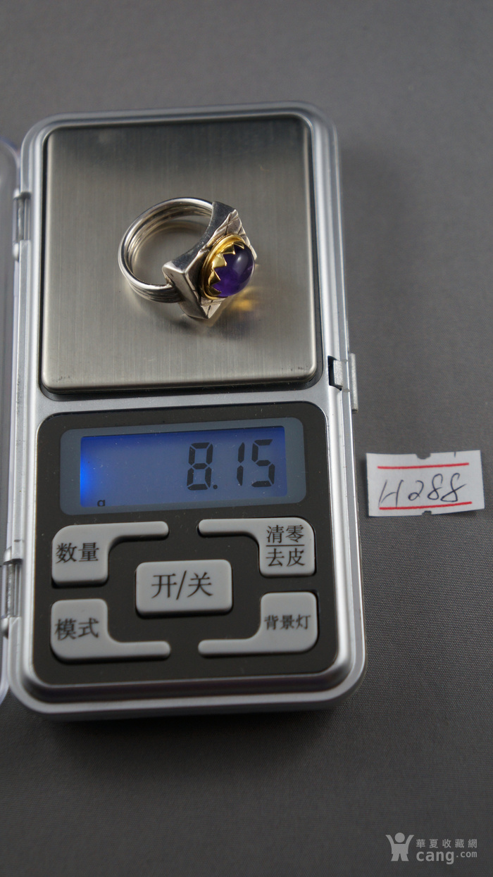 22k金950银镶嵌天然紫水晶戒指图6