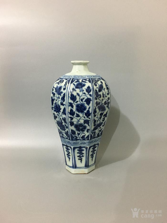 青花六棱瓶(永乐)图1