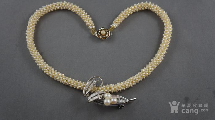 创汇期天然米粒珍珠项链图1