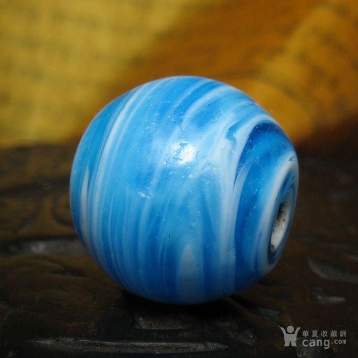 30091老搅胎缠丝琉璃桶珠14mm图3