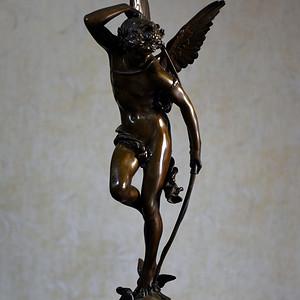19世纪法国著名雕塑家儒勒.古丹艺术精品爱神丘比特