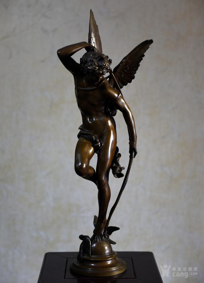 19世纪法国著名雕塑家儒勒.古丹艺术精品爱神丘比特图1