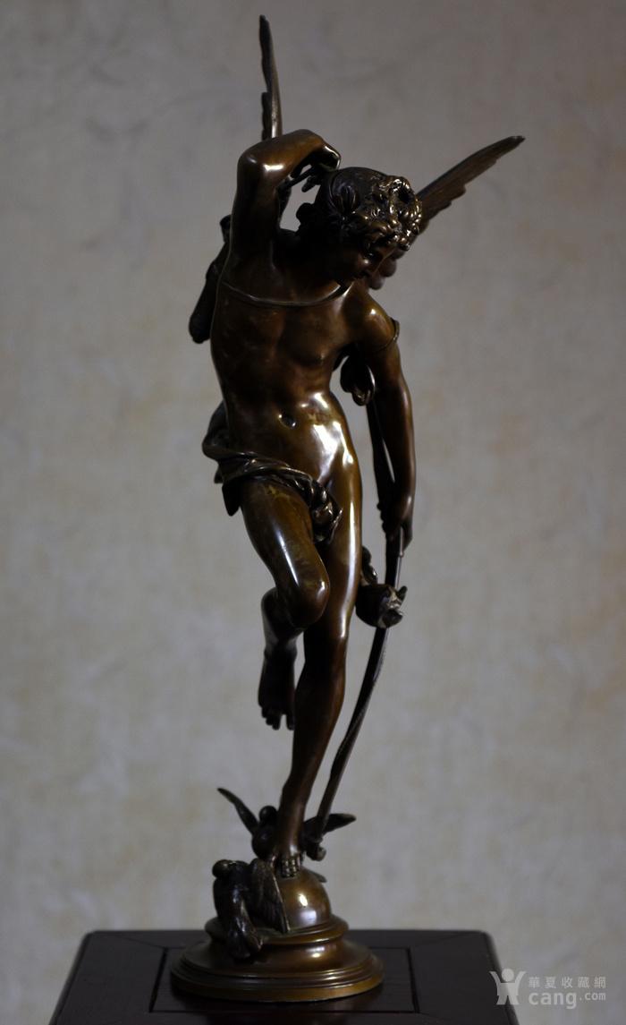 19世纪法国著名雕塑家儒勒.古丹艺术精品爱神丘比特图3