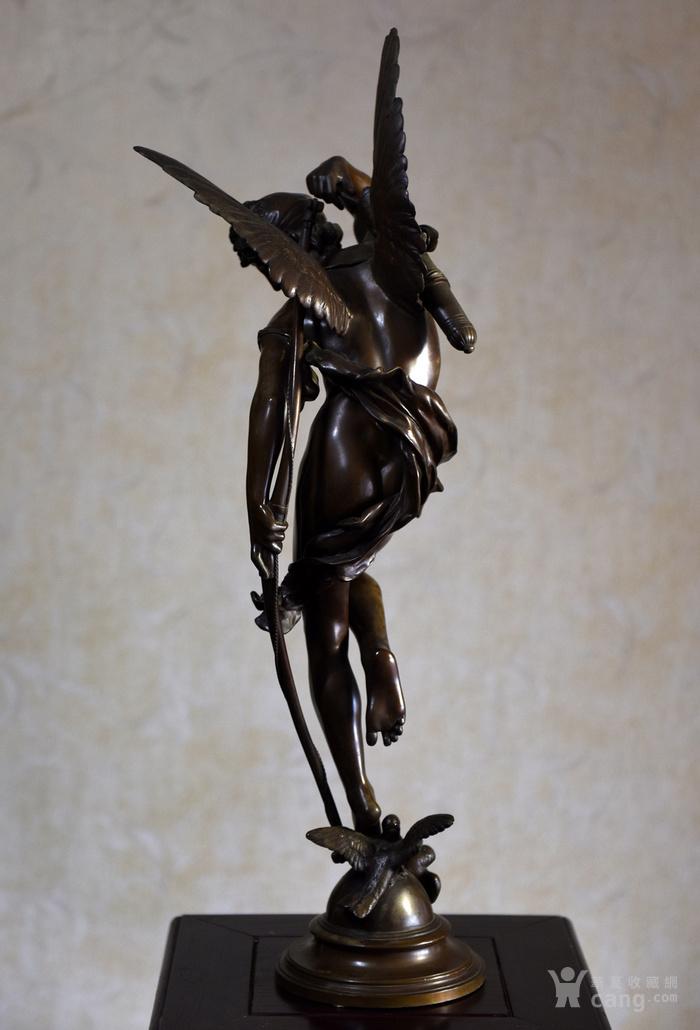19世纪法国著名雕塑家儒勒.古丹艺术精品爱神丘比特图5