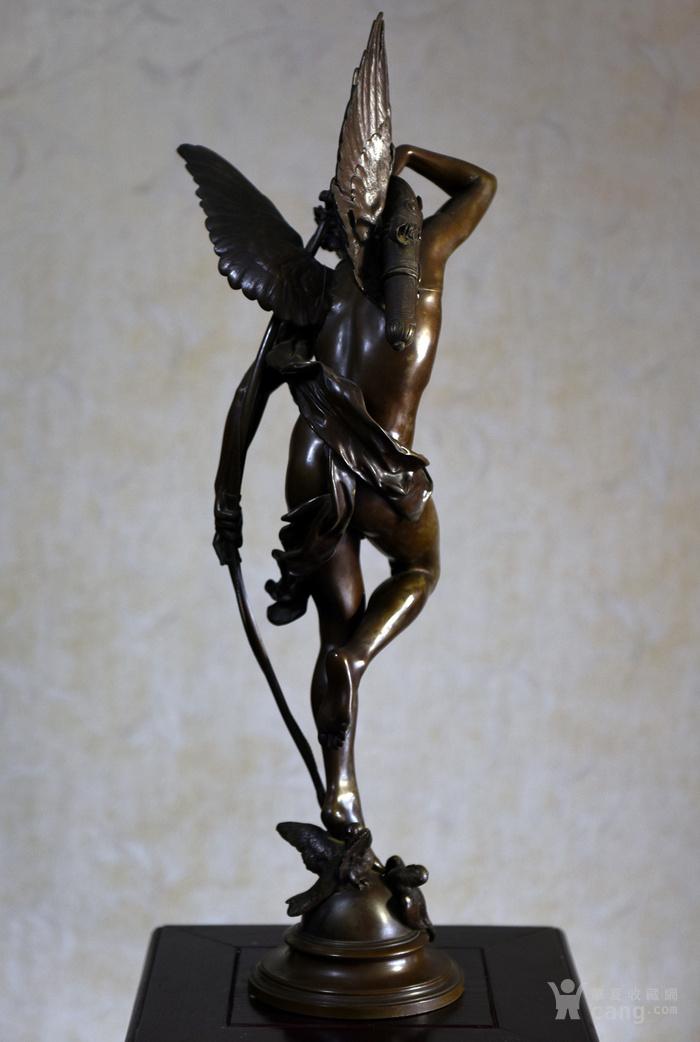 19世纪法国著名雕塑家儒勒.古丹艺术精品爱神丘比特图6