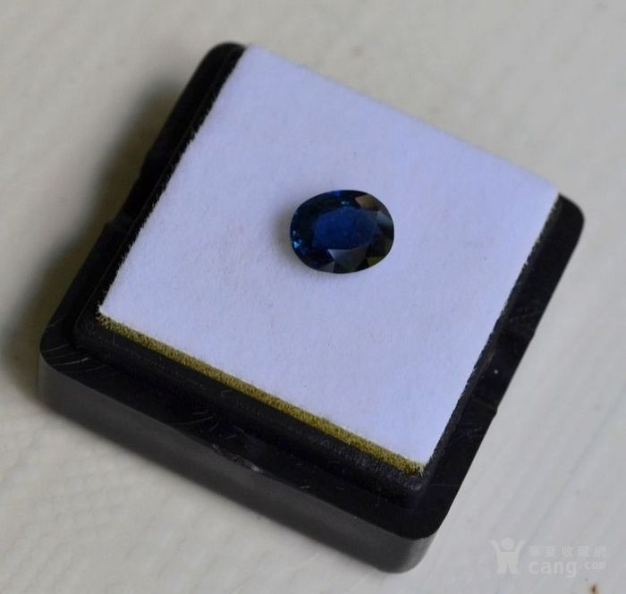 蓝宝石 斯里兰卡纯天然椭圆型1.20克拉蓝宝石图1