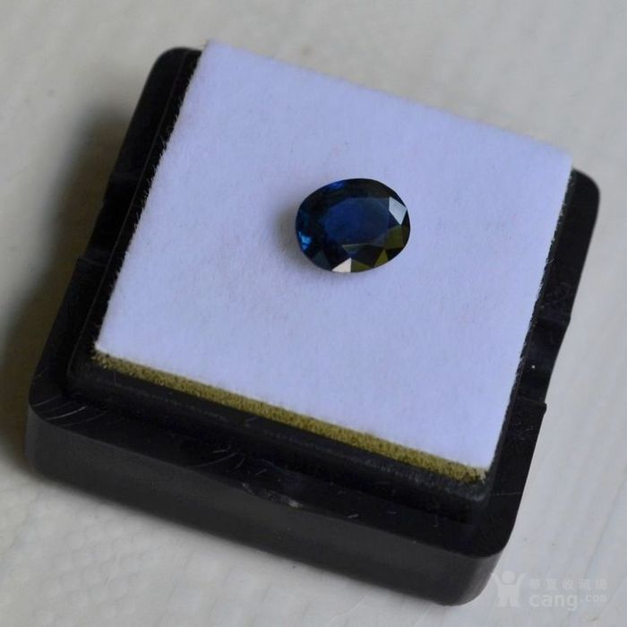 蓝宝石 斯里兰卡纯天然椭圆型1.20克拉蓝宝石图3